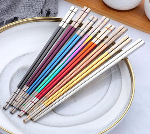 Stainless Steel Japanese Square Chopsticks