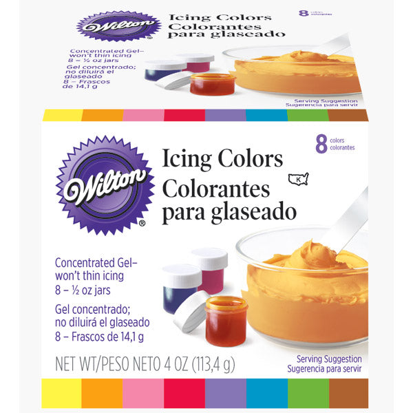 Ensemble de 8 colorants en gel de marque Wilton, 2201-1379