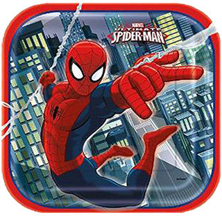 "Assiettes - 7""- Spiderman - qté 8"