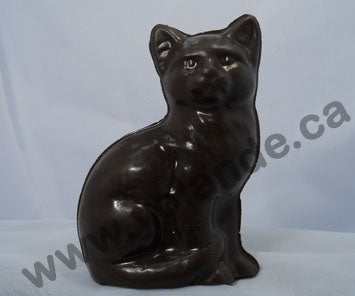 Moule à chocolat - Chat assis 3d - Animal (D-A235)