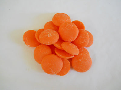 Pastilles de chocolat Composé Merckens orange 500 gr.