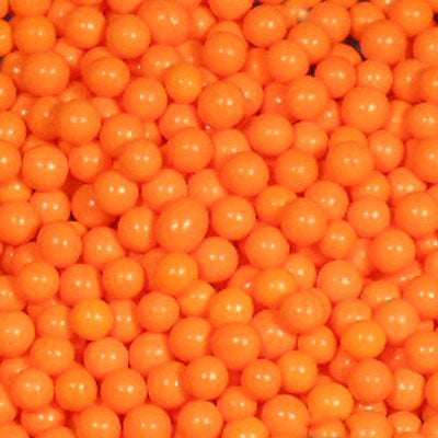 Perle en sucre - Orange - 4mm