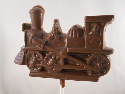 Moule à chocolat Transport - Train - Locomotive sur bâton - Suçon (S-Q05)