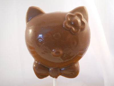 Moule à chocolat - Hello Kitty sur bâton - Suçon - Animal (S-A82)