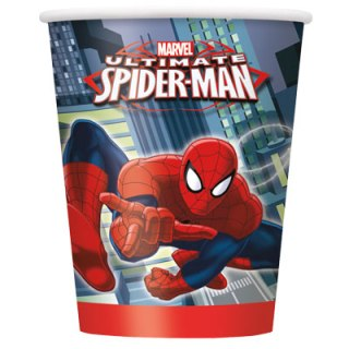 Verres 9 oz - Spiderman - qté 8