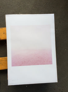 Elbe (rosa) - The Pink River  - A Poster (signed)