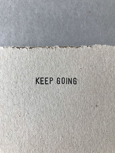 KEEP GOING box