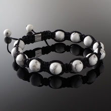 Load image into Gallery viewer, Howlite Shamballa Bracelet