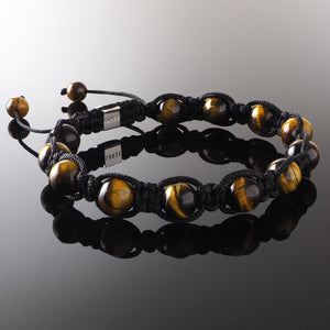 Yellow Tiger's Eye - Shamballa Bracelet