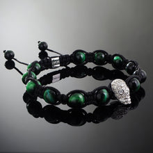 Load image into Gallery viewer, Revenant // Silver x Green Tiger's Eye Bracelet