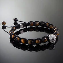 Load image into Gallery viewer, Wraith // Silver x Yellow Tiger's Eye Bracelet
