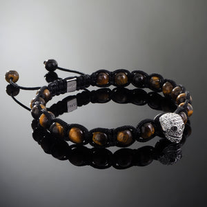 Wraith // Silver x Yellow Tiger's Eye Bracelet
