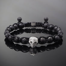 Load image into Gallery viewer, Wraith // Silver x Lava Bracelet