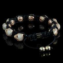 Load image into Gallery viewer, HADES // 10x Rose Gold Diamond Skull Bracelet