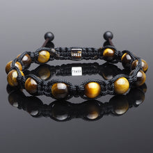Load image into Gallery viewer, Yellow Tiger's Eye - Shamballa Bracelet