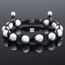 Load image into Gallery viewer, Howlite - Shamballa Bracelet