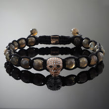 Load image into Gallery viewer, Wraith // Rose Gold x Labradorite Bracelet