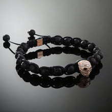 Load image into Gallery viewer, Wraith // Rose Gold x Lava Bracelet