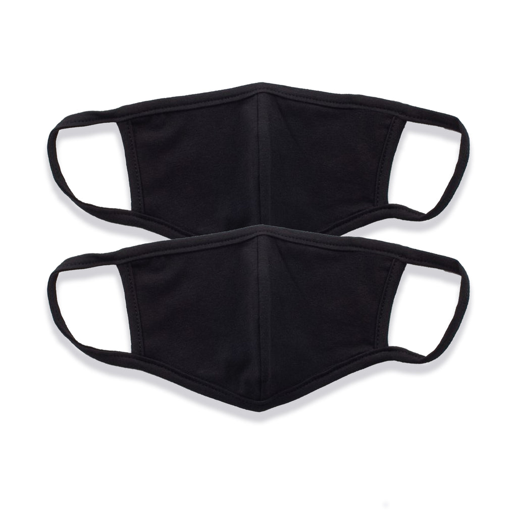 Blank Face Masks (2 PACK)(Black)