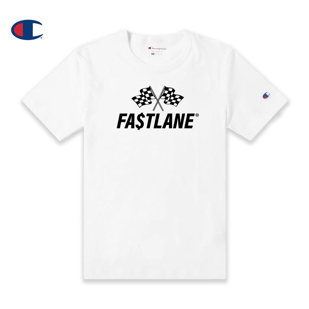 FASTLANE FLAG Champion Tee (Black logo)