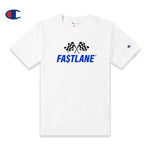 FASTLANE FLAG Champion Tee (Blue logo)