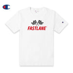 FASTLANE FLAG Champion Tee (Red logo)