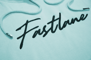 Premium Embroidered Script Hoodie - Mint