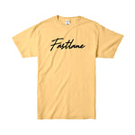 Garment Washed Script Logo Tee - Citrus