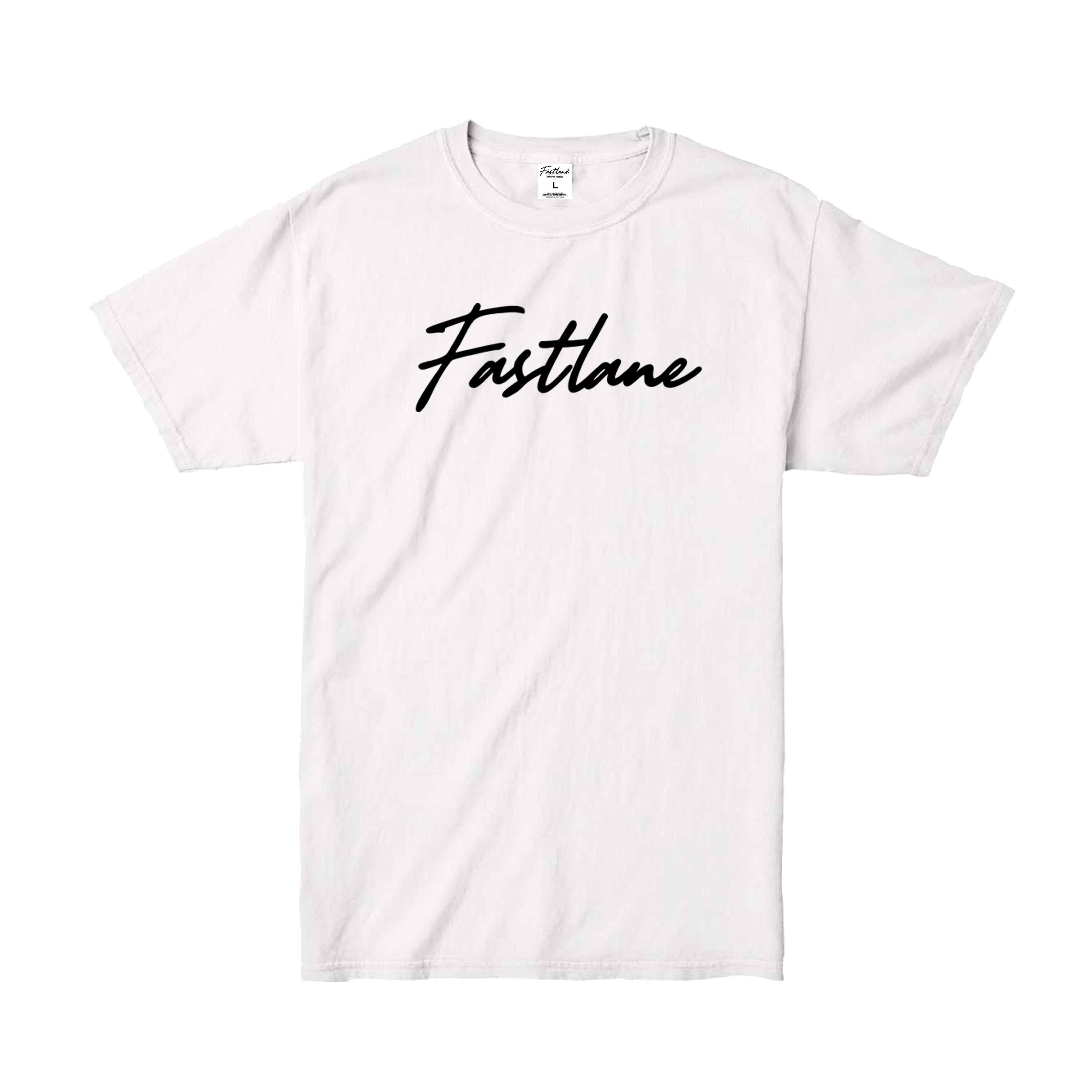 Garment Washed Script Logo Tee - White