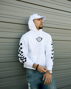 CHECKERED WINGS HOODIE (White)