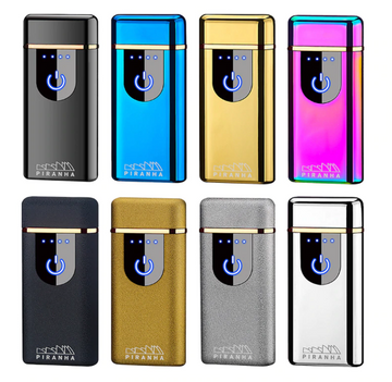Dual Crossing Plasma Lighter with Quick Touch Power by Piranha