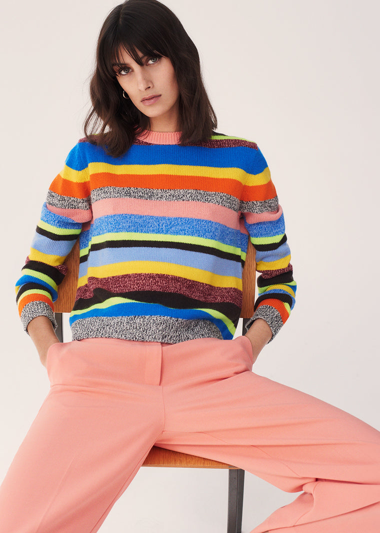 Multicoloured Anni Stripe Wool-Cashmere Sweater