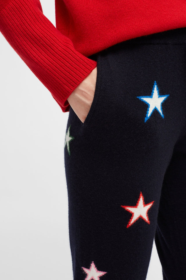 Navy Star Track Pants 3D image 4