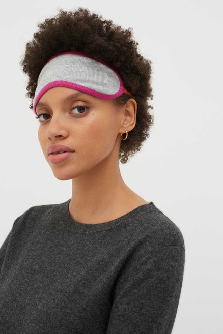 Grey Cashmere Eye Mask