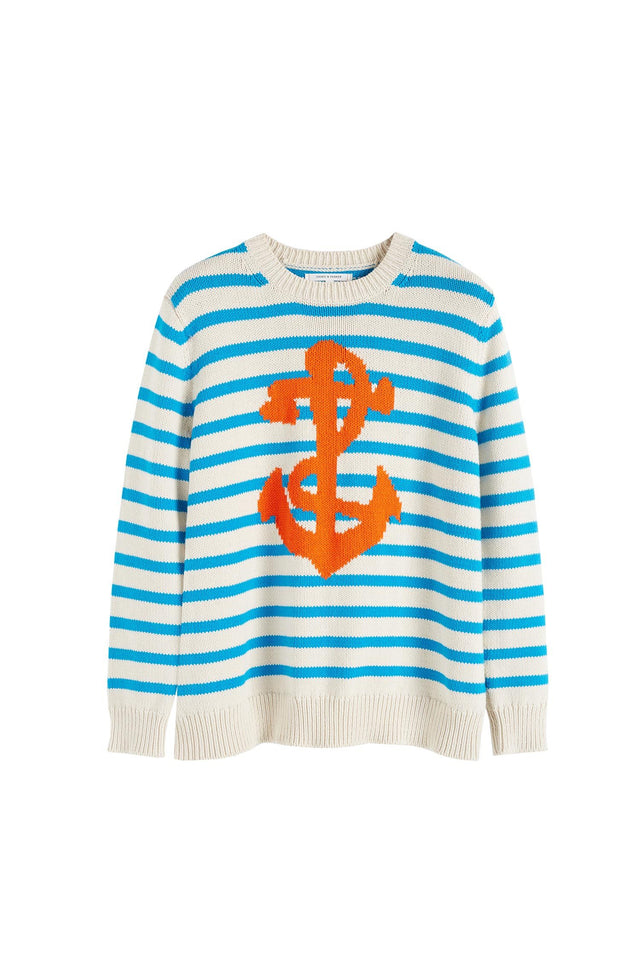 Cream Anchor Chunky Knit Sweater image 2