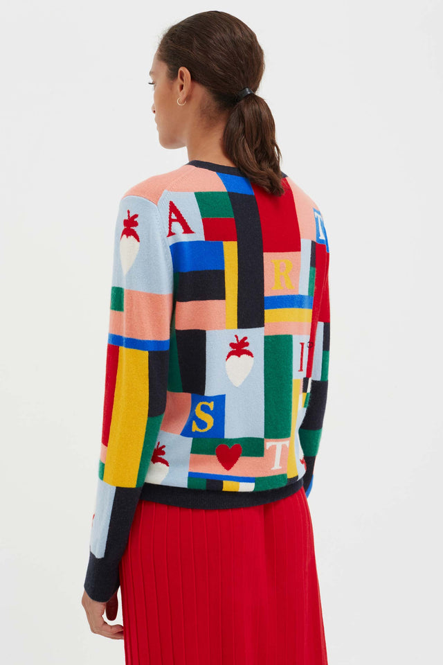 Patchwork Wool Bohemian Sweater image 6