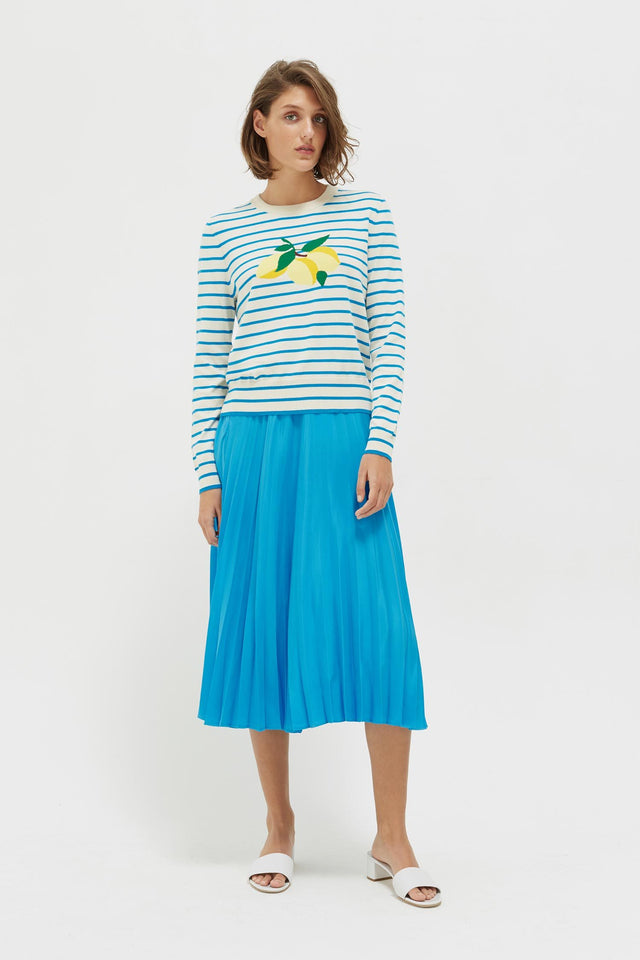 Blue Stripe Lemon Sweater image 3