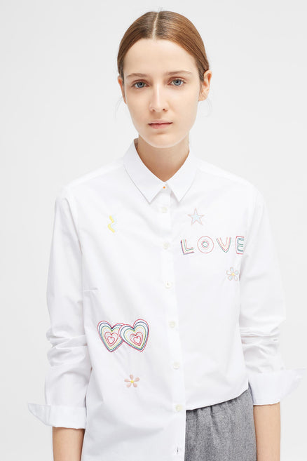 White Carmen Love Shirt