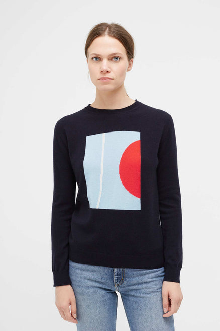 Navy Abstract I Caroline Popham Sweater