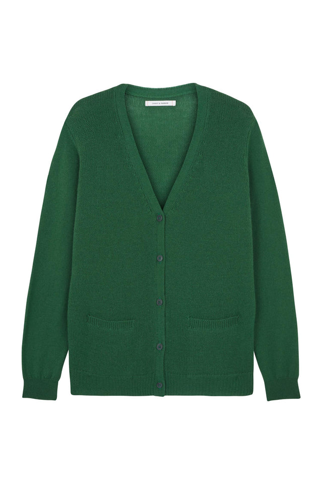 Green Elbow Patch Cardigan image 2