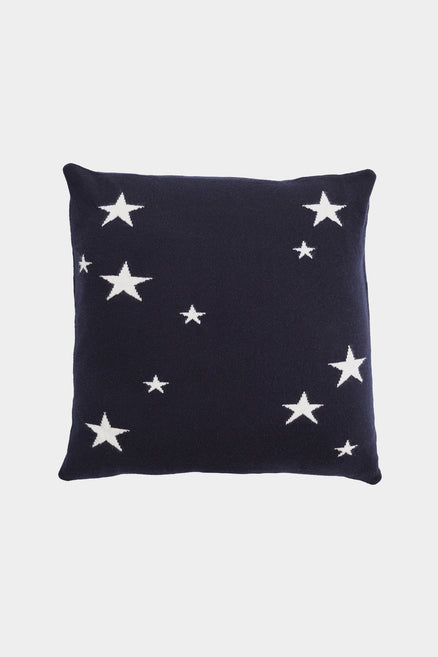 Navy Classic Star Cashmere Cushion Cover
