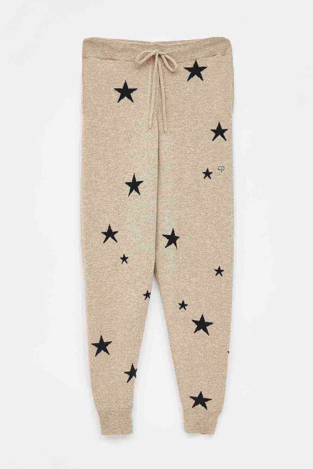 Oatmeal Star Cashmere Track Pants image 2