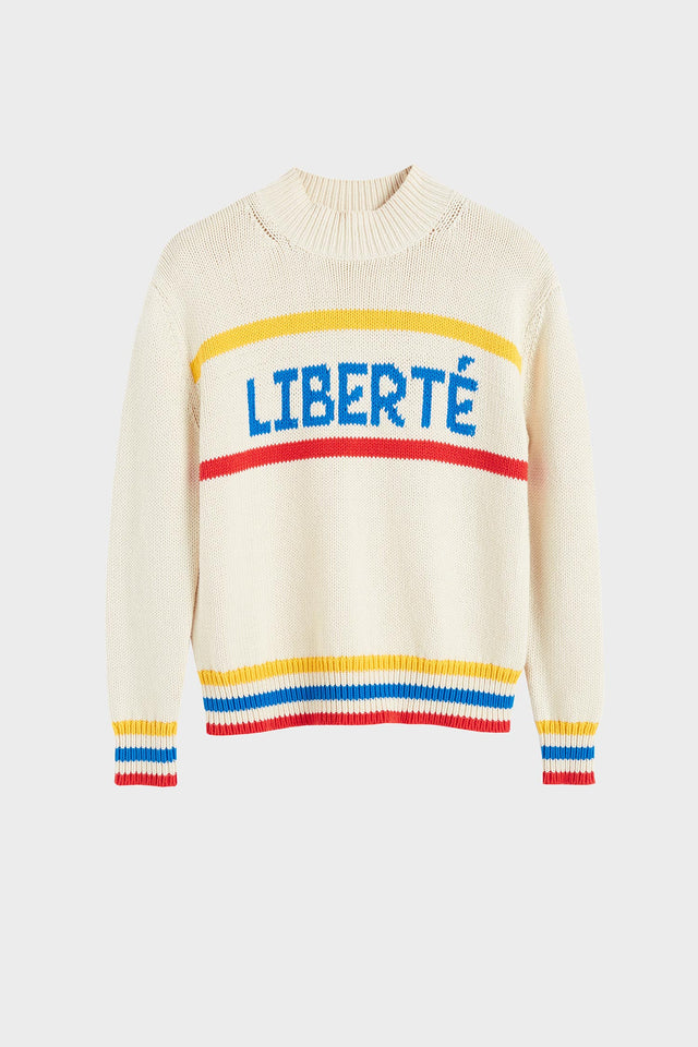 Cream Liberté Chunky Polo Neck Sweater image 2