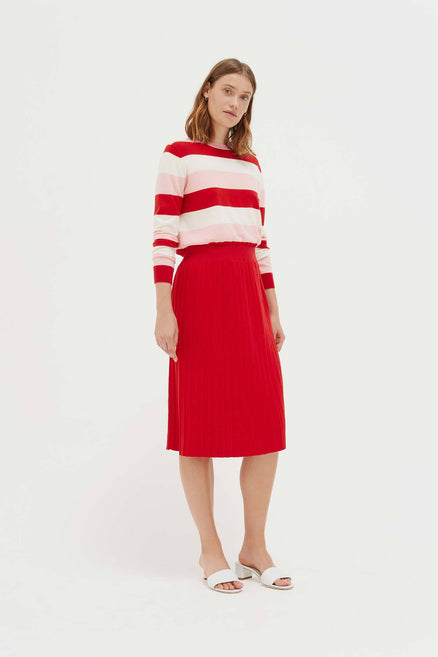 Red Cotton Day Dreamer Skirt