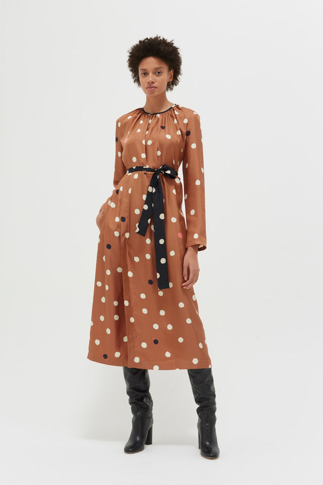 Ginger Painted Spot Silk Dress image 1
