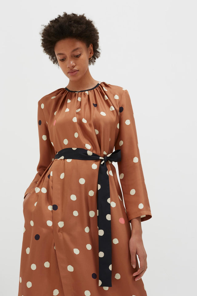 Ginger Painted Spot Silk Dress image 5