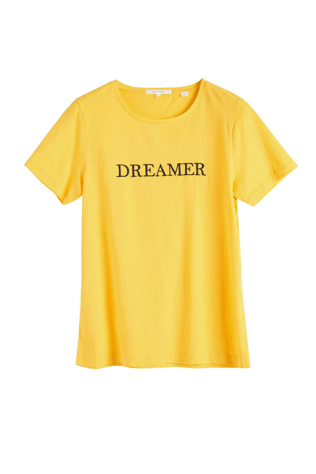Yellow Cotton Dreamer T-Shirt image 2