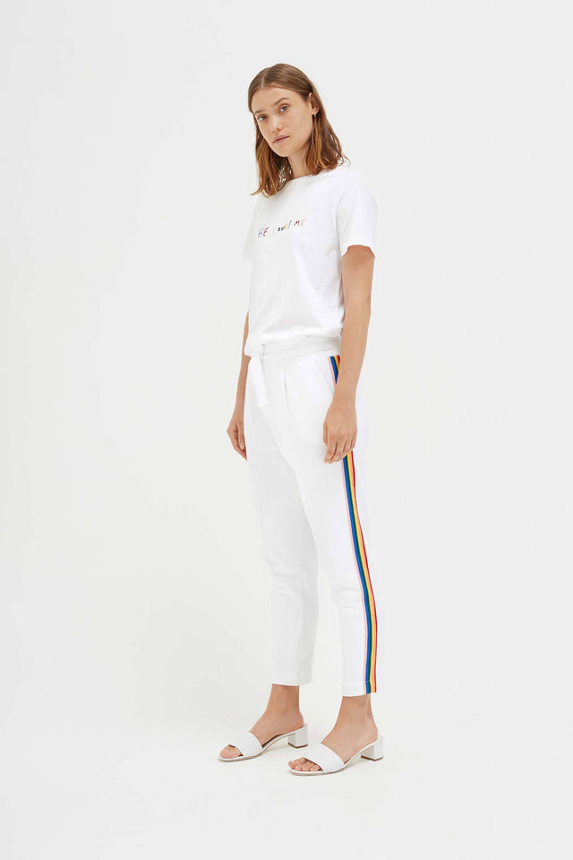 White Cotton Dreamer Track Pants image 3