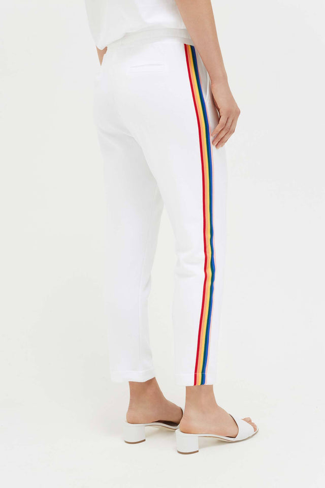 White Cotton Dreamer Track Pants image 5