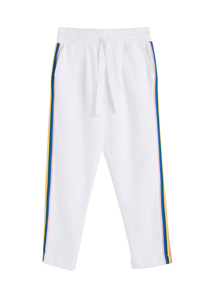 White Cotton Dreamer Track Pants image 2